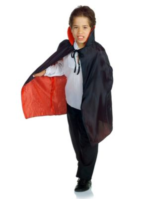 Kids Black and Red Cape