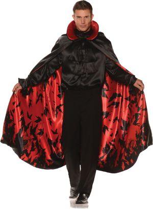 Adult Satin Bat Cape Red Costume