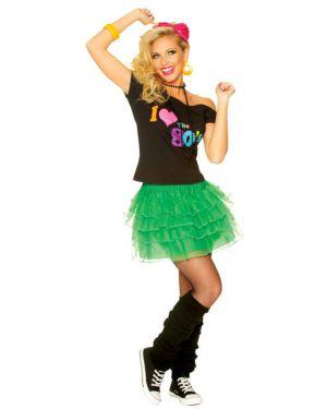 Green 80's Petticoat