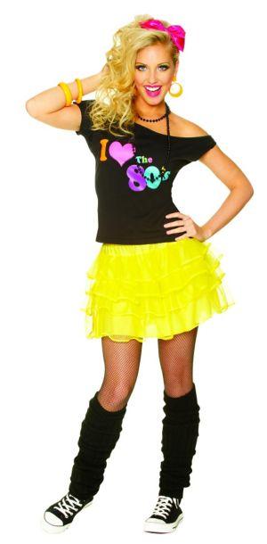 Yellow 80's Petticoat