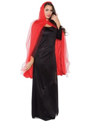 Adult Red 3/4 Ghost Cape Costume