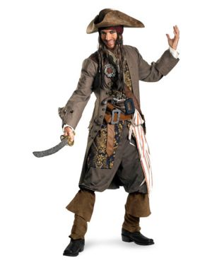 Captain Jack Sparrow Theatrical Quality Mens Costume