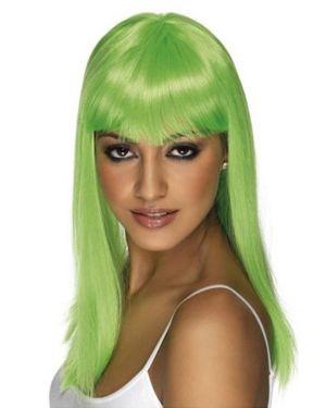 Women's Glamarama Wig - Neon Green