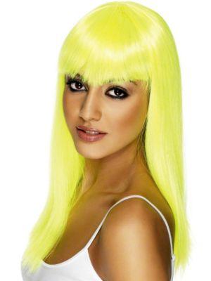 Neon Yellow Glamourama Adult Wig
