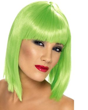 Women's Glam Short Wig - Green