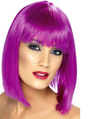 Neon Purple Glam Adult Wig