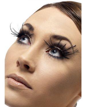 Deluxe Black Feather Plume Eyelashes