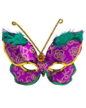 Deluxe Purple Butterfly Mask