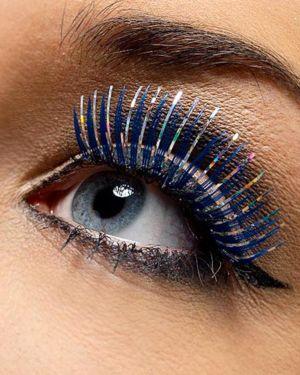 Blue and Silver Metallic Eyelashes
