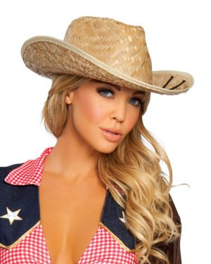 Straw Cowgirl Hat Adult