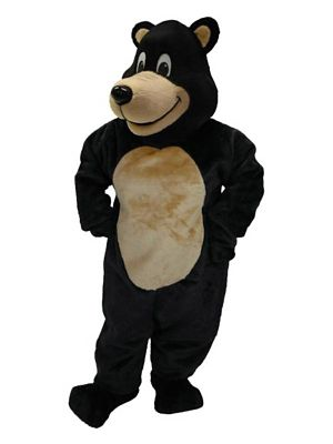 Adult Black Bear Mascot Costume