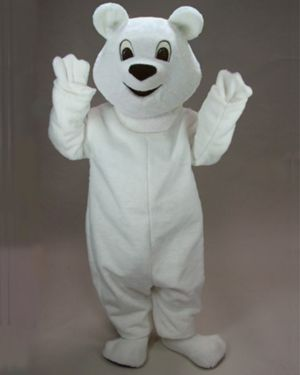 Adult White Polar Bear Mascot Costume