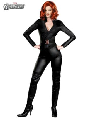 Adult Plus Size Deluxe Avengers Black Widow Costume