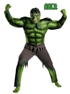 Adult Classic Muscle Avengers Hulk Costume