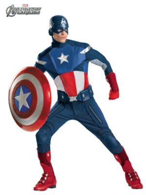 Adult Theatrical Quality Avengers Captain America Costume