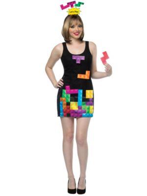 Adult Ladies Interactive Tetris Costume