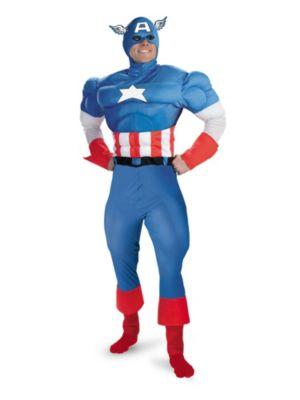 Muscle Captain America Costume for Men