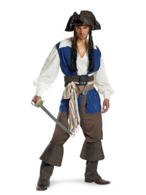 Captain Jack Sparrow Costume for Adults