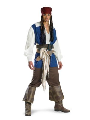 Quality Captain Jack Sparrow Costume for Adults