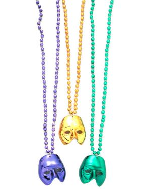 Mardi Gras Mask Beaded Necklaces
