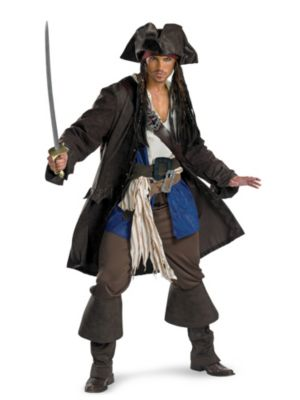 Prestige Captain Jack Sparrow Costume for Adults