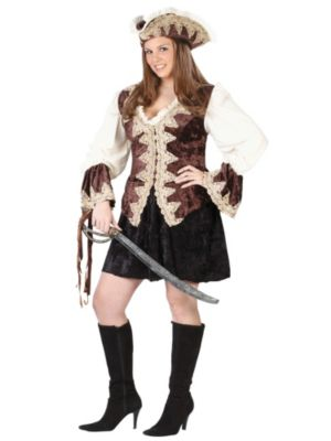 Pirate Lady Plus Size Costume for Women