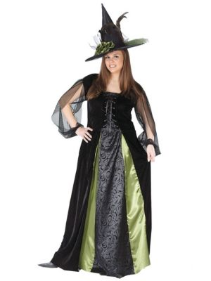 Gothic Witch Maiden Womens Plus Costume