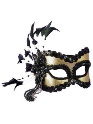Black and Gold Eyemask