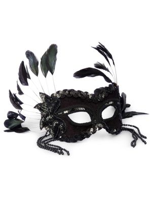 Black Feather Fantasy Mask