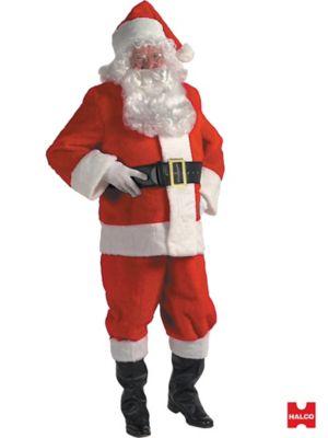 Plush Complete Santa Suit Kit - 10 pc