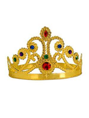 Gold Plastic Jeweled Princess Tiara