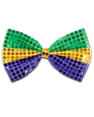 Mardi Gras Glitz N Gleam Bow Tie