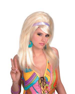 60's Mod Blonde Wig Adult