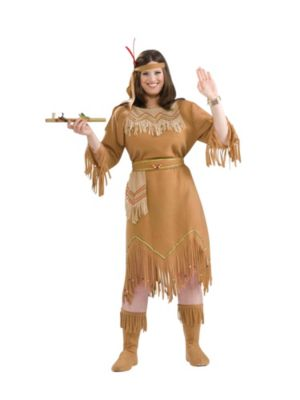 Adult Plus Size Indian Maiden Costume