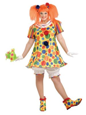 Giggles the Clowb Plus Size Costume for Adults