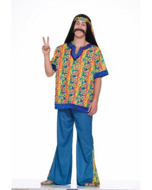 Plus Size Hippie Dude Mens Costume