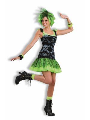 Funky Skulls Womens Deluxe 80s Costume