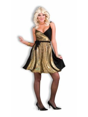 Gold Disco Womens Deluxe Costume