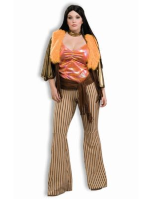 60s Babe Womens Plus Size Costume