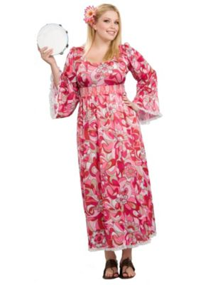 Plus Size Flower Child Hippie Womens Costume