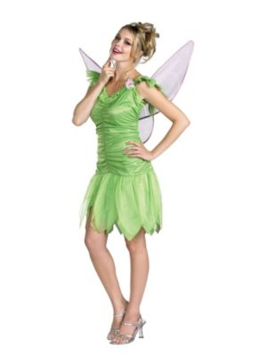 Quality Adult Tinker Bell Dress and Wings Costume