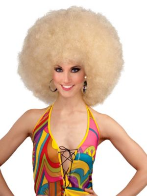 Adult Blonde Deluxe Mega Fro
