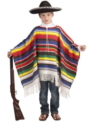 Boy's Mexican Poncho Costume