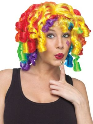 Cutie Pie Clown Wig Adult