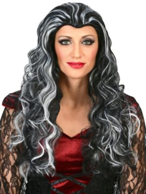 Black & White Vampire Wig Adult