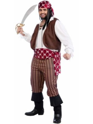 Adult Plus Size Shipwrecked Pirate Costume