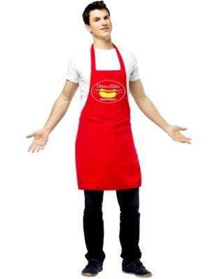 Adult Hot Dog Vendor Dirty Apron Costume