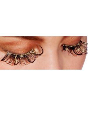 Gold Glitter Eye Lashes