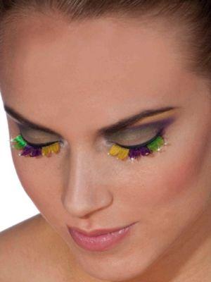 Mardi Gras Green/Purple/Gold Eye Lashes