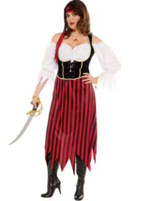 Adult Plus Size Pirate Maiden Costume